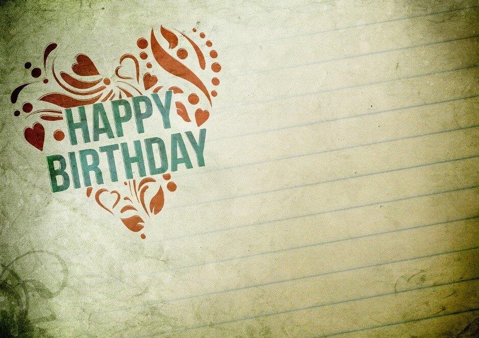 カリグラフィーを使って誕生日カードを作るときによく使う言葉について