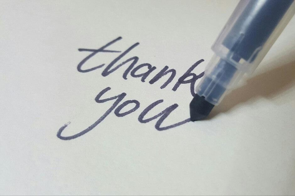 カリグラフィーを使ったメッセージカードで感謝を伝えたいときによく使う言葉について